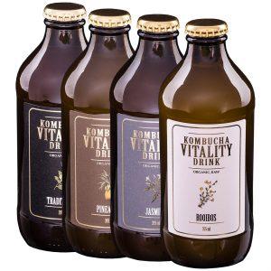 Kombucha vitality drink mix box