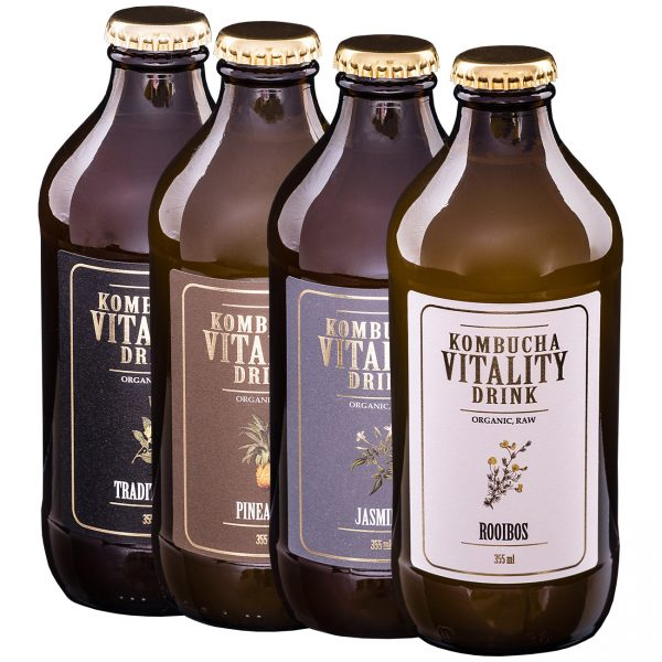 Kombucha vitality drink mix box