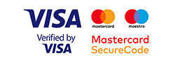 Mastercard and VISA verified and accepted